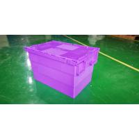 Best Water - Proof 600*400*365 Mm Stacking Plastic Totes With Anti - Theft Button Seal wholesale