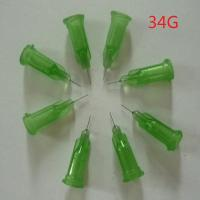 Best 34G Metal plastic tips,cheap plastic needle,dispensing blunt needle tip,syringe needle wholesale