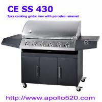 China Gas Grill BBQ 6 burner with side burner on sale