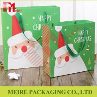 Best Christmas Santa Claus Handle Paper Gift Bag Cookie Candy Bag Xmas Party Festival wholesale