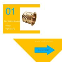 Best Bronze Flange Dry Sliding Bearing Bushing 35-39-30mm Perforated In Gold wholesale