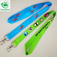 China custom CYMK cheap printed polyester lanyard with snap hook on sale