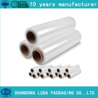 Best pre stretch 280% Transparent LLDPE Stretch Film Plastic Packing Film wholesale