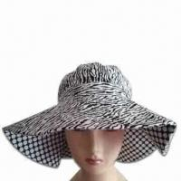 China Women's Hat with Wide Brim, Made of Cotton Twill on sale