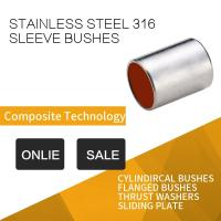 Best 316 Stainless Steel Sleeve Bushing With Red Modified PTFE For Printing & Dyeing Machines wholesale