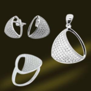 Best 925 Sterling Silver Cubic Zircon Jewelry Set (RSA5364) wholesale