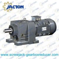 China 1HP 0.75KW R RX Series foot mounted solid shaft gear speed reducer Specifications on sale