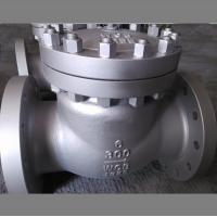 China Flanged Swing Check Valve,Bolt Cover,A216wcb body,13CR trim,bs1868,6inch,class 300 on sale