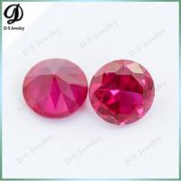Free Size Available 6mm 5# Rose Red Synthetic Corundum Rough on sale
