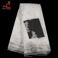 Best 3D Floral Stretch Wedding Bridal Embroidered Tulle Lace Fabric By The Yard wholesale