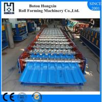 Best Hydraulic Pump Roofing Sheet Machine , Cr12 Cutting Blade Metal Roll Forming Machine wholesale