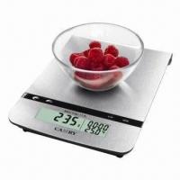 China Electronic Kitchen Scale with Stainless Steel Platform and Alarm Timer on sale