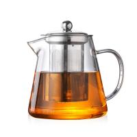 China Heat Resistant Clear Glass Teapot with 304 Stainless Steel Strainer Durable on sale