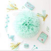 Best Paper Flower Balls Tissue Paper Pom Poms For  Birthday/Wedding/Party Decorations wholesale