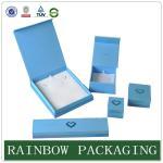 Best Custom Size Sky Blue Jewelly Case , Grazioso Cardboard Box for Jewelly Box wholesale