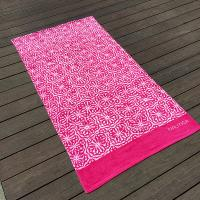 Best Soft Women Designer Beach Towels Reactive Print Pink And White Flower wholesale
