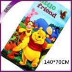 Best Pure Cotton Velour Reactive Printed Bath Towel Kids Beach Towel With Bear Pattern wholesale