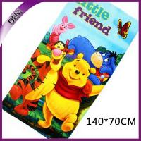 China Pure Cotton Velour Reactive Printed Bath Towel Kids Beach Towel With Bear Pattern on sale