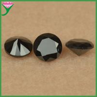 Best wholesale 6mm round shape synthetic black spinel beads wholesale