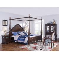 Best Palatial Villa House Bedroom Furniture set Classic Wooden King size Bed with Grand Night table with Decoration display wholesale