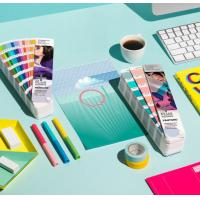 Best 2017 pantone guide set coated and uncoated color card pantone gp1601n pantone colour guide chart solid coated color card wholesale