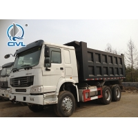 China White HOWO A7 Dump Truck 16 Cubic Meter 10 Wheel 1200R20 Tyre Size on sale