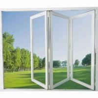 Best Newest Beautiful Folding Doors with Tempered Glass, White, Bronze and Powder Coating wholesale