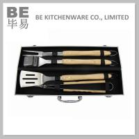 Best Food Safe 4PCS Long Handle BBQ Tools Sets (BE-20075) wholesale