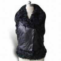 Best Lamb Genuine Leather Vest with Curl Lamb Fur Inside, Comfortable and Warm to Wear During Winter wholesale