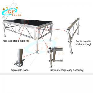 Best Wooden Aluminum Stage Platform With Stair Guardrails wholesale