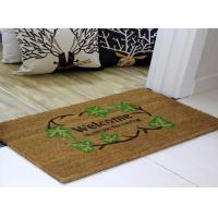 China 40*60cm Coir Coconut Entrance Matting Thickness 15mm PVC Backing on sale