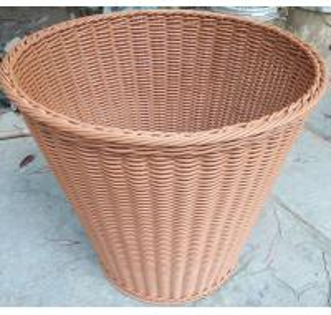Best wholesale 60cm PE Rattan storage Baskets Plastic Laundry Hamper Hotel bathroom baskets Handmade clothes towel basket wholesale