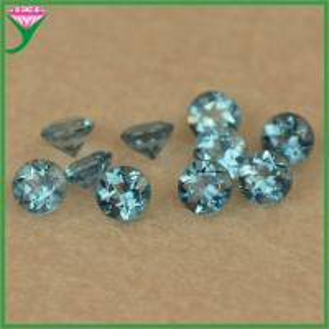 Best wholesale price various shapes 4mm round diamond cut natural london blue topaz beads wholesale
