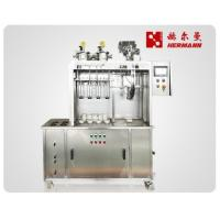 Best Four Heads Semi - Automated Bottling Machine 1550x550x1750mm For Beverage wholesale