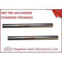 China 1-1/2 Steel Electrical Metallic Conduit with Pre Galvanized Finish 3.05 Meters on sale