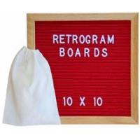 China Felt Letter Board Oak Stand Travel Bag Sign with Changeable Messages & Characters for Restaurant, Office or Home on sale