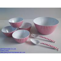 Best Reusable plastic salad bowl sets with fork and spoon of 7 pcs wholesale