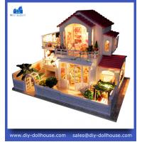 China miniature model dollhouse kid wooden doll house model D002 on sale