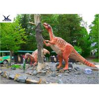 Amusement Park Decoration Realistic Dinosaur Statues Artificial Mother And Baby Models
