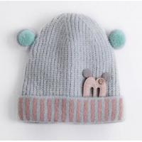 Best Winter hat girl Korean cute baby wool hat new thick warm headdress cartoon ear knitted hat wholesale