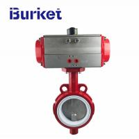 Best -50~-200C water, steam, gas Pneumatic rubber-lined inch butterfly valve for dyeing machine wholesale