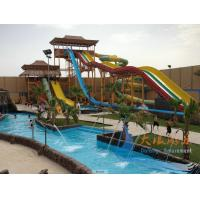 Best Anti-UV Aqua Park Equipment Large Fiber Glass With 12m Height wholesale