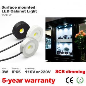 Best Surface install Led Cabinet Spotlight super thin round waterproof 3W Showcase lighting wholesale