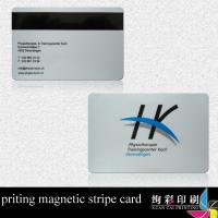 China Silk Screen Printing Plastic Cards With Magnetic Strip Credit Card on sale