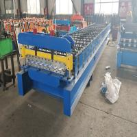 China Advanced Roofing Sheet Roll Forming Machine With Double Chains Drive 0.3mm - 0.8mm on sale
