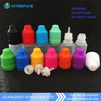 Best 3ml LDPE e-liquid bottle, plastic bottle with child proof and tamper evident cap wholesale