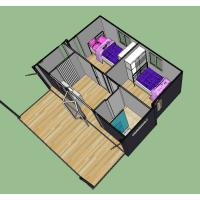 Best Easy Disassemble Expandable Container House With Steel Structure / Galvanized Pipe wholesale