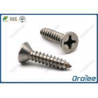 Best 304/316 Stainless Steel Philips Flat Head Sheet Metal Screws wholesale