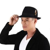 Best 4190369 Sun Accessory customized winner fashion 100% wool felt fedora hats,hats for men wholesale