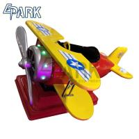 China Fiberglass Propeller Aircraft Rocking Ride Machine For Child Commercial Amusement Facilities on sale